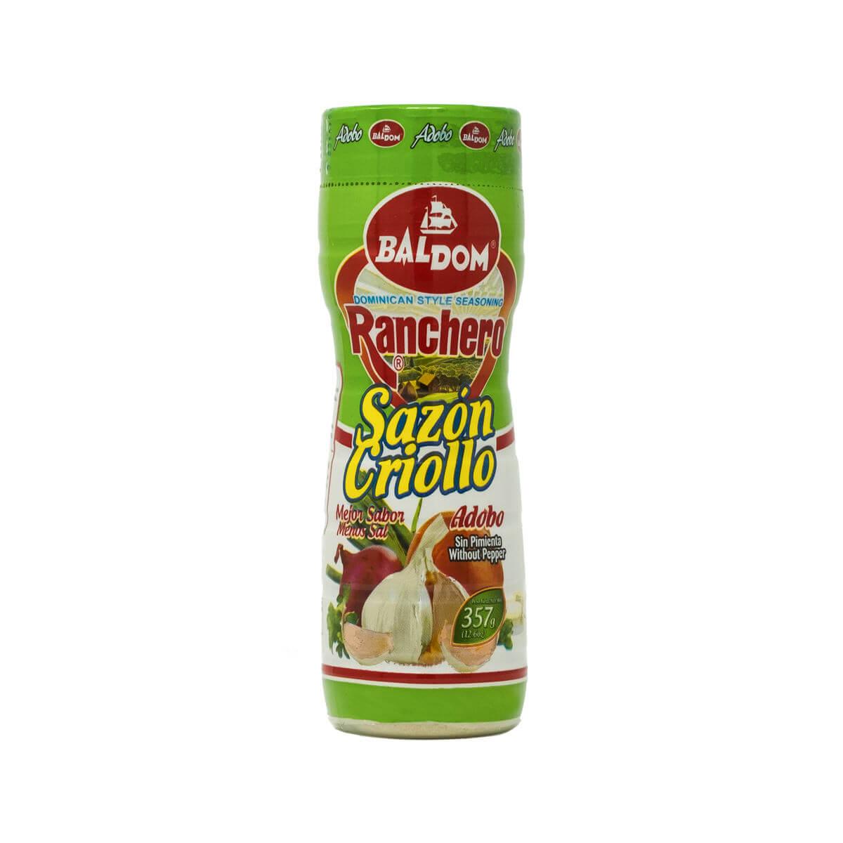 Sazón Criollo Adobo Ranchero sin pimienta