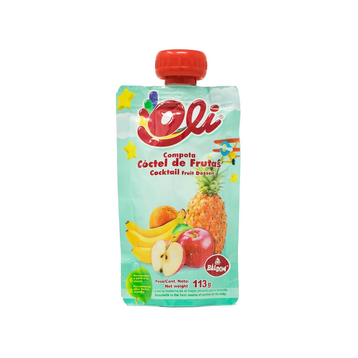 Compota Cóctel de frutas Oli fácil pack