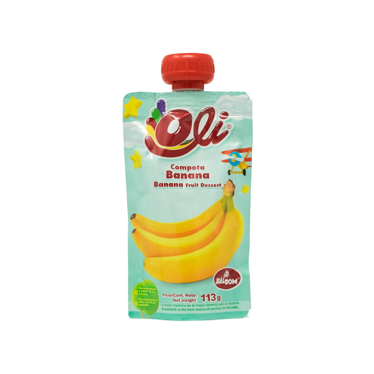 Compota Banana Oli fácil pack