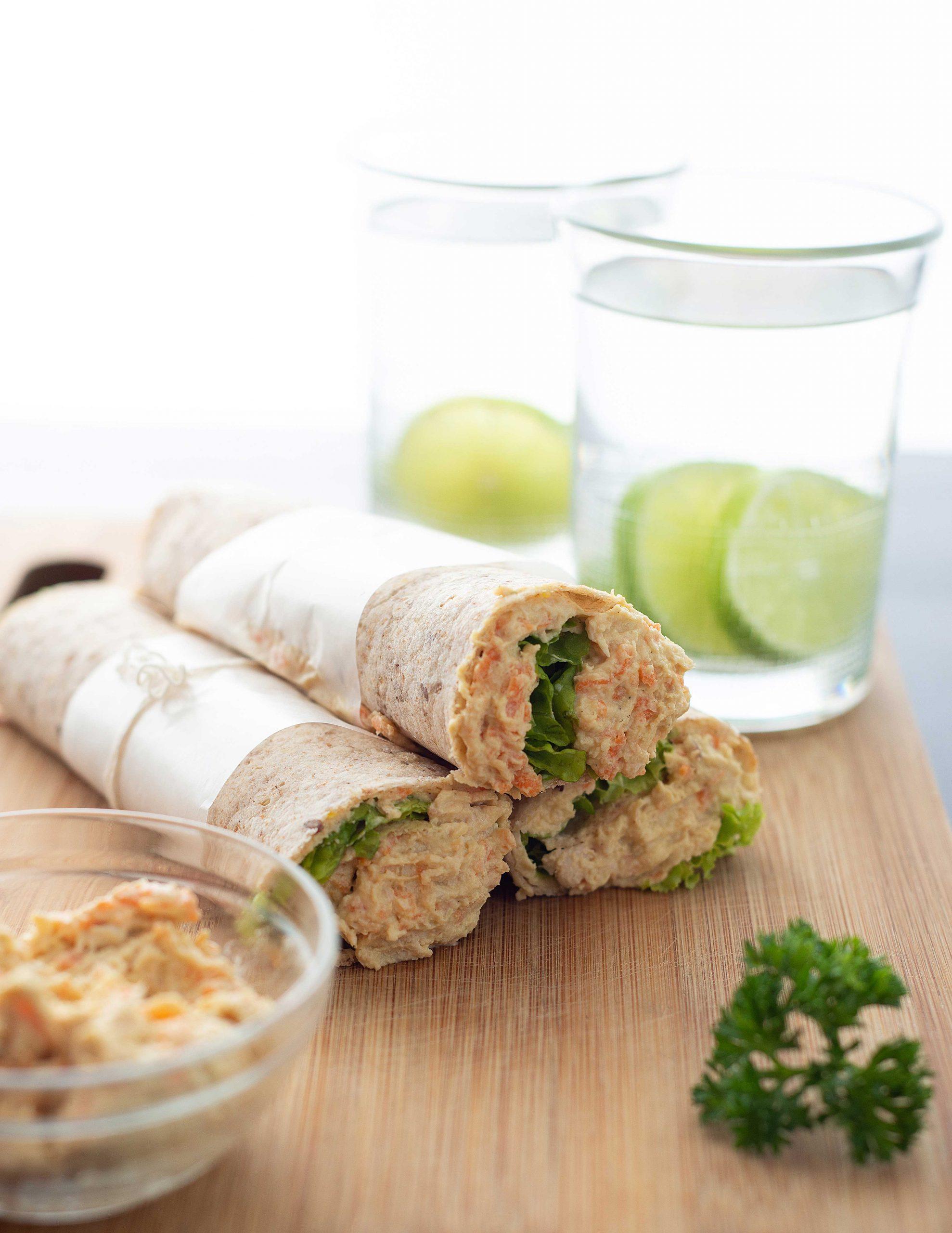 Wrap de Pollo con Vegetales